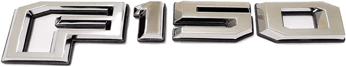 1x 2015-2018 F150 Rear Tailgate Emblem Badge 3D Nameplate Replacement for F-150 FL3Z-9942528-C (Chrome)