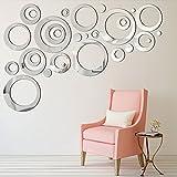 32 Pièces Réglage Miroir Acrylique Amovible Sticker Mural Decal Maison Décoration (Style 4)