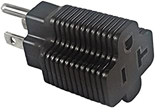 15 Amp Male To 20 Amp Female Plug Outlet 3 Prong Household T-Blade Adapter ETL-Listed