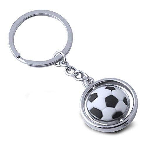 TOYMYTOY Fußball Schlüsselanhänger - Metalldrehendes 3D Sport Keychain, Geburtstagsgeschenk