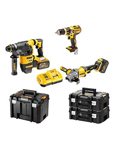 DEWALT Kit FVK381X2-QW FLEXVOLT 54V/18V(DCH333 + DCD796 + DCG414 + 2 batterie 54V/18V Li-Ion 9,0 Ah + DCB118 + 2 x TSTAK II + TSTAK VI)'Brushless'