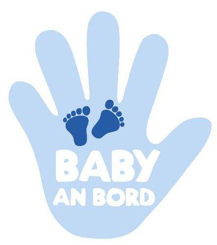 Main pour essuie-glace arrière bébé à bord bleu