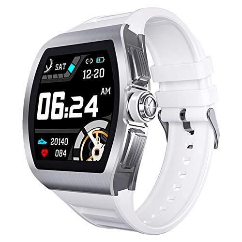 LVF M1 Men's Smart Watch, IP68 Monitor De Ritmo Cardíaco A Prueba De Agua Y Reloj Inteligente para Mujeres Y Mujeres, con Recordatorio De Llamadas De Mapa GPS, Adecuado para iOS Android,B