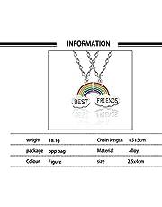 CHIPYHOME Collar Gargantilla Best Friends Arco Iris Mejores Amigas para Compartir y Llevar Entre Dos amig@s, Novi@s, mamis e Hijas diseño