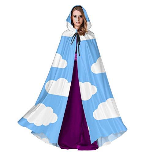 Yushg Weiße Wolken Am Blauen Himmel Mantel Kapuze Für Männer Männer Mantel Mit Kapuze 59 Zoll Für Weihnachten Halloween Cosplay Kostüme