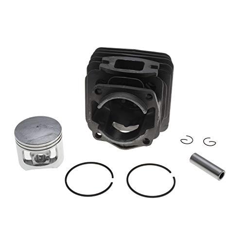 Jardiaffaires Kolbenzylinder komplett 43 mm, anpassbar für Zenoah G451, G455 und G4500