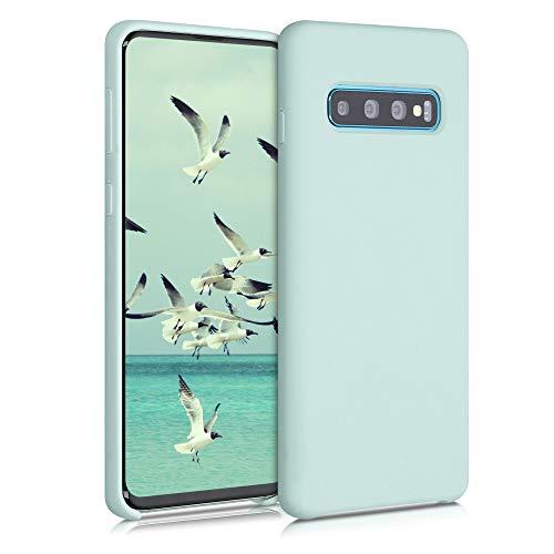 kwmobile Hülle kompatibel mit Samsung Galaxy S10 - Hülle Handyhülle gummiert - Handy Case in Frosty Mint