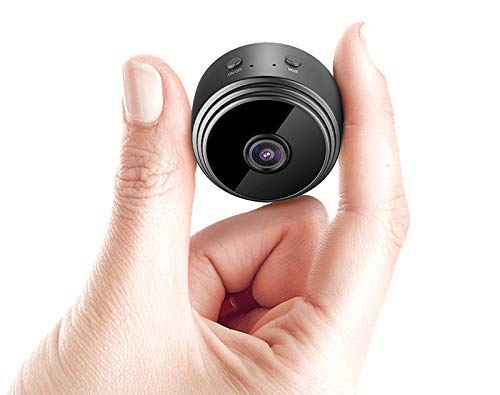 SPY 360 Full HD Mini Spy Camera WiFi Magnetic Live Stream Night Vision IP Wireless 1080P Audio and Video Hidden Nanny Camera for Home Offices Room Security (Black)