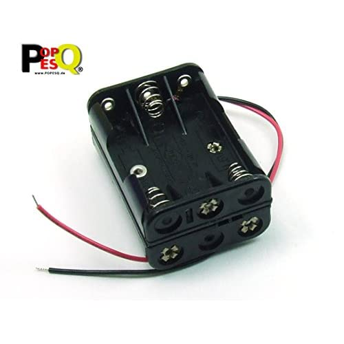 POPESQ® - Contenitore Portabatterie Porta pile/Battery Socket Battery Holder 6 x AAA (R3) compatto - #A1774