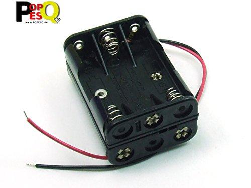 POPESQ® - BATTERIEHALTER/Battery Holder 6 x AAA (R3) Kompakt AKU Battery SOCKEL/Socket #A1774