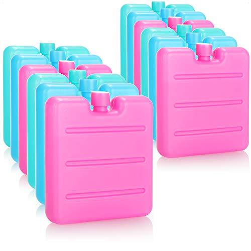 com-four® 12x Mini-Kühlakku - platzsparend und ideal für Kühlbox und Kühltasche - Kühlelemente in tollen Farben (12 Stück - Mini - bunt)