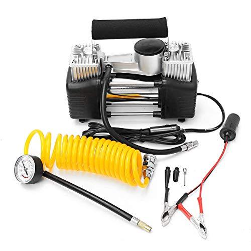 GENFALIN Bomba eléctrica del compresor de aire portátil de neumáticos for inflar con aire de la bomba con la válvula del cilindro 70L 280W / 12V Indicador de 150p