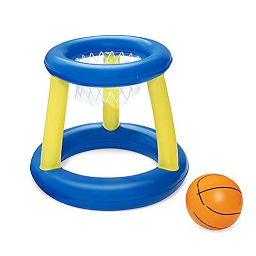 Juego de juguetes de baloncesto inflables para niños con marco y pelota de juguete interactivo, para aprender a hacer deportes acuáticos