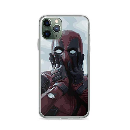 Phone Case Deadpool Illustration Compatible with iPhone 6 6s 7 8 X Xs Xr 11 12 Pro Max Mini Se 2020 Bumper Anti Tested