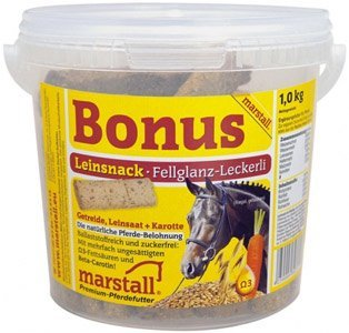 marstall Premium-Pferdefutter Bonus Leinsnack, 1er Pack (1 x 20 kilograms)