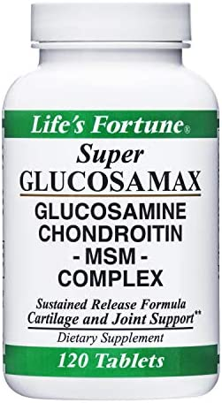 Life s Fortune Super Glucosamax Glucosamine Chondroitin MSM Complex for Cartilage and Joint product image