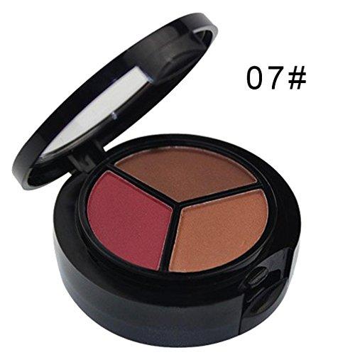 Fards à Paupière, YUYOUG Smoky Cosmetic Set 3 Couleurs Professionnel Ombre à Paupières Maquillage Mat Naturel (C)