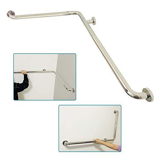 Grab Bars for Bathroom Shower Handicap Toilet Safety Rails L-Shaped Bathroom Handles Support Bath Safety Grab Bar for Elderly Seniors Hand Rails (24x36 Inch)