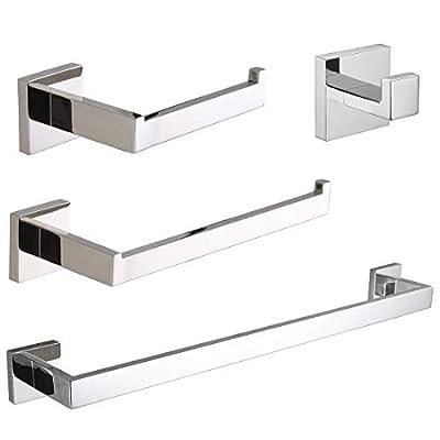 VELIMAX Bathroom Hardware Set, 4-Piece, Polished