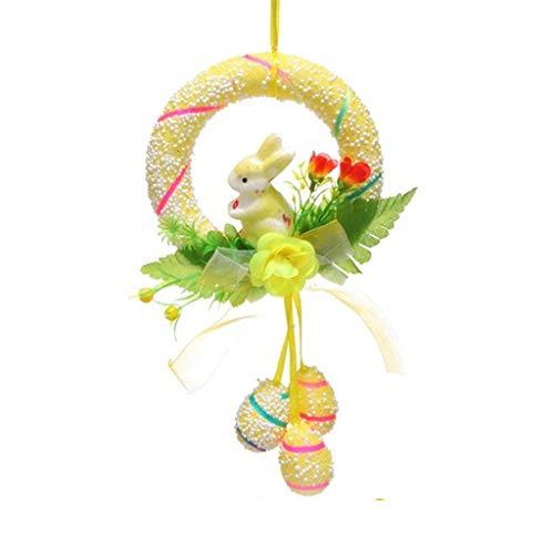 Pingtr - Ostern dekoriert Anhänger gemalt Kranz Kaninchen Ei Tür hängen Anhänger Requisiten