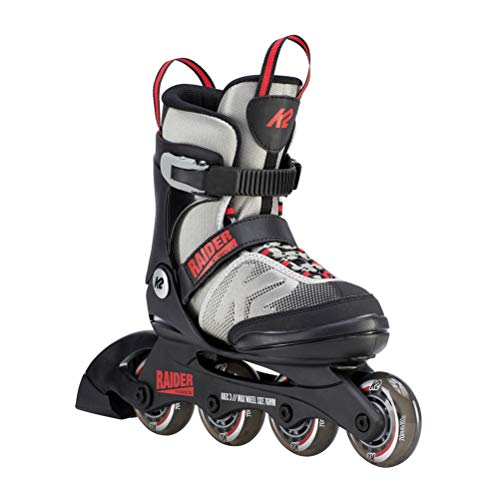 Best Prices! K2 Skate Youth Raider Inline Skates, Gray/Red, Large (4-8)