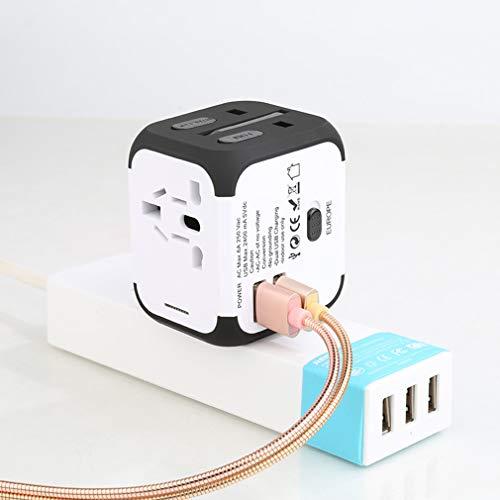 ZXF- 2 USB-Anschlüsse (5 V, 2,1 A) All-in-One-USB-Reiseadapter, Universeller USB-Stecker, Anwendbar In Über 150 Ländern Für Benutzer Von Smartphones Und Digitalkameras Usw