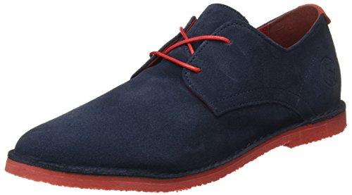 El Ganso Bajo Guerrero Ante, Zapatos con Cordones Hombre, Azul (Marino), 41 EU