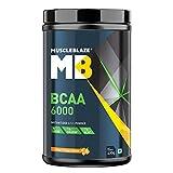 MuscleBlaze BCAA 6000 Vegan BCAAs | 2:1:1 (Tangy Orange, 0.88 lbs/400g, 50 Servings)