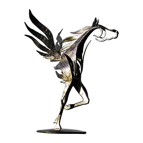 BMTLFG Estatua de metal, estatua de caballo, estilo abstracto, 6 opciones, temtica y amor, adecuada para casa y jardn (E)
