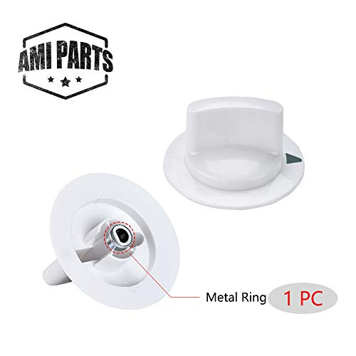 AMI PARTS WE1M652 Dryer Knob Timer Control Knob with Reinforced Metal Ring Replacement Part Compatible with General Electric GE Dryer Part Replaces AP3995164 PS1482196