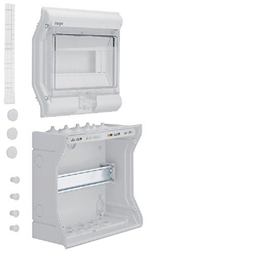 Preisvergleich Produktbild Hager VE110D Kleinverteiler 1-reihig bis 63A 8 / 10 Platzein.IP41 / 65 AP-Montage