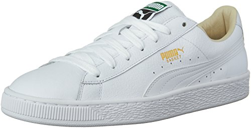 PUMA Men's Basket Classic LFS Fashion Sneaker, White-White,  8 M US