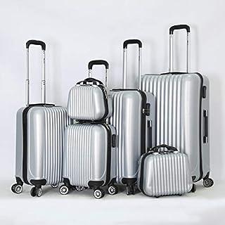 مجموعة حقائب الأمتعة بجانب صلب وبكرة دوّارة مكونة من 6 قطع مع قفل مكون من 3 أرقام من ميلايف