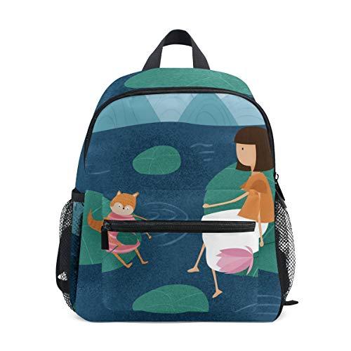 Chic Houses 2030351 - Mochila de Viaje para niños, diseño de pájaro y Nieve