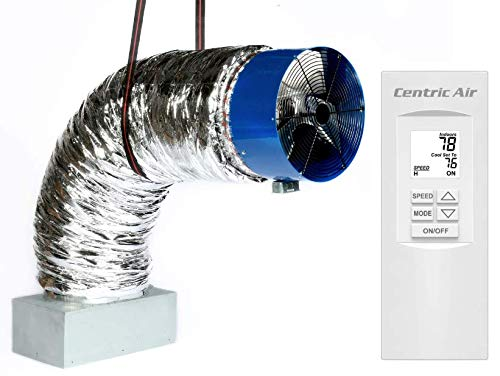 QA-Deluxe 5500(R2T) Energy Efficient Whole House Fan | 2-Speed Remote With Timer & Temp Control | R-5 Damper | 3945 CFM HVI-916 Certified Airflow Rating | 2-Story Homes to 3400 sqft & 1-Story to 2400