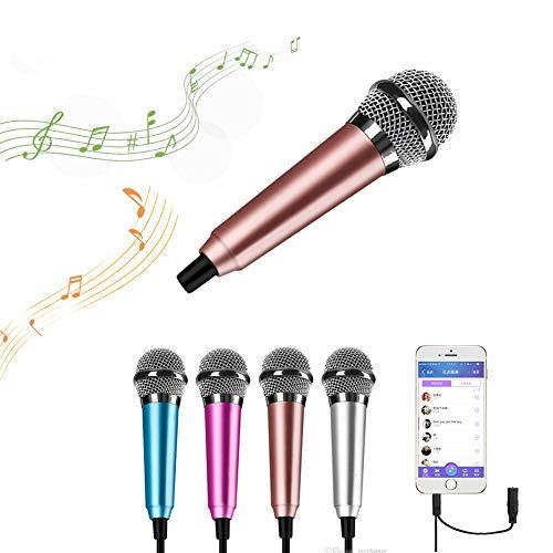 Surmounty Mini-Mikrofon für Handy, Laptop, Notebook, Apple iPhone, Samsung, Android rose gold