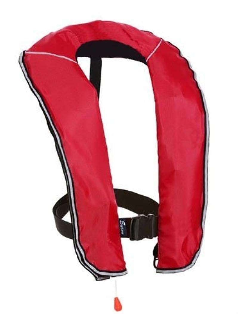 鉛寛容なリフレッシュeyson(エイソン) ライフジャケット インフレータブルベストタイプ 釣り用 自動/手動膨張 救命胴衣 CE認定済