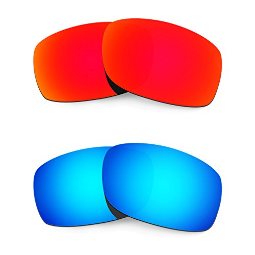 HKUCO Mens Replacement Lenses for Oakley Fives 3.0 Sunglasses - 2 Pair