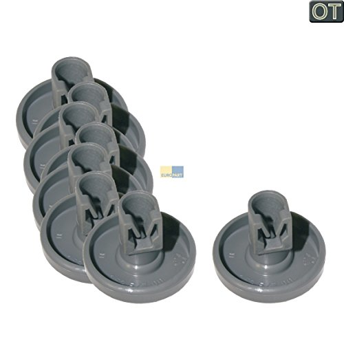 AEG 50286965004 Korbrolle Unterkorb 8 Stück Spülmaschine