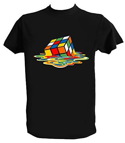 UZ Design T Shirt Sheldon Cooper Uomo Bambino Maglietta Cubo di Rubik Big Bang Theory, Bambino 12-14 Anni