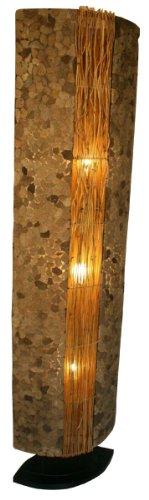 Guru-Shop Lámpara de Pie/lámpara de Pie, Hecha a Mano en Bali de Material Natural, Piedra de Lava - Modelo Lava 150 cm, Rattan, Lámparas de pie de Materiales Naturales