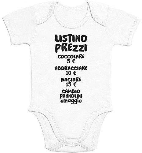 Shirtgeil Baby Bambini Listino Prezzi - Idee Regalo Body Neonato Manica Corta 0-3 Mesi Bianco