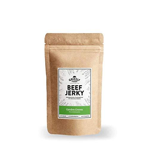 Beef Jerky • Aus Deutschland • Trockenfleisch vom Rind im Set • Garden Greens • >70% Eiweiß • DER Chipsersatz (5 x 50g = 250 Gramm)