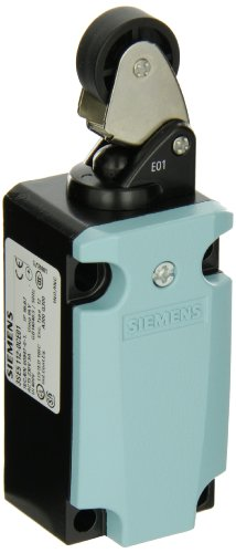 Siemens 3SE5 112-0CE01 International Limit Switch Complete Unit, Roller Lever, 40mm Metal Enclosure, Metal Lever, 22mm Plastic Roller, Snap Action Contacts, 1 NO + 1 NC Contacts