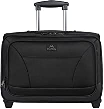 Rolling Laptop Bag, MATEIN Rolling Briefcase for Business Travel, Fits 17 inch Notebook, Carry-on Luggage Attache Case Waterproof Rolling Work Bag for Men and Women, Black