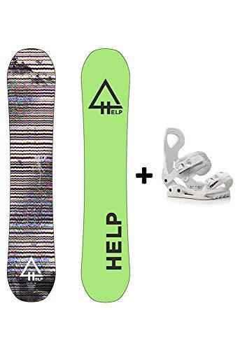 Help Snowboards Pack The Rise 2018-2020 und Bindungen Drake Queen 2020-2021 - Snowboard und Snowboard Bindungen - Pista und Freestyle - Größe 142 und 146 (Bindungen Drake Queen M (37-41) EU), 1 42)