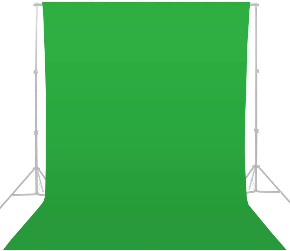MOUNTDOG 6.5 x 10ft Green Screen Backdrop Background, Portable Polyester Chromakey Photography Backdrop for Zoom/Gaming/YouTube Video/Photo Studio/Live Stream/Party Decorations(Stand NOT Included)