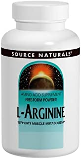 Source Naturals L-Arginine 1000 mg Free Form and Promotes Increased Circulation - Supports Cardiovascular Health - 50 Tablets