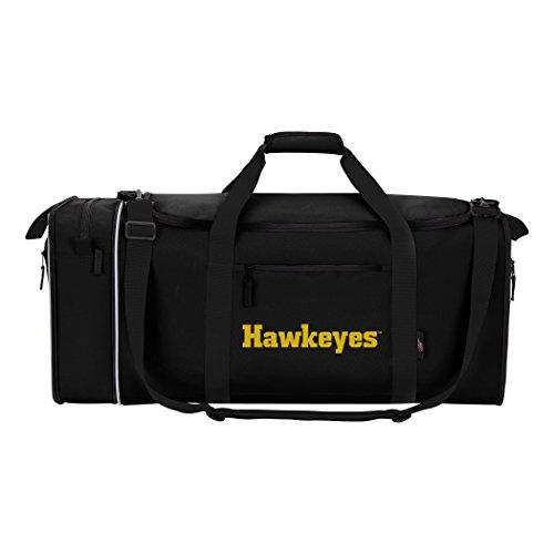 The Northwest Company Unisex-Erwachsene Duffel NCAA Iowa Hawkeyes, Schnäppchen (Steal), Reisetasche, schwarz, 28