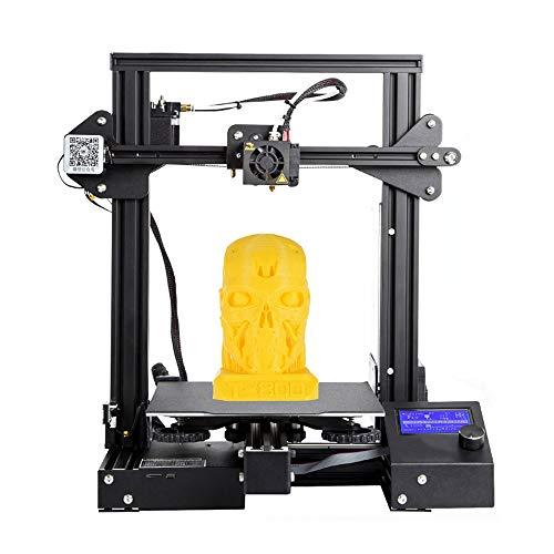 Impresora 3D, Ender-3 Pro 3D Printer DIY Set, Estructura Integrada, ImpresióN De Alta PrecisióN, Reanudar ImpresióN, Pantalla En áNgulo De 45 °, para Medicina/Industria/Hogar/Cine